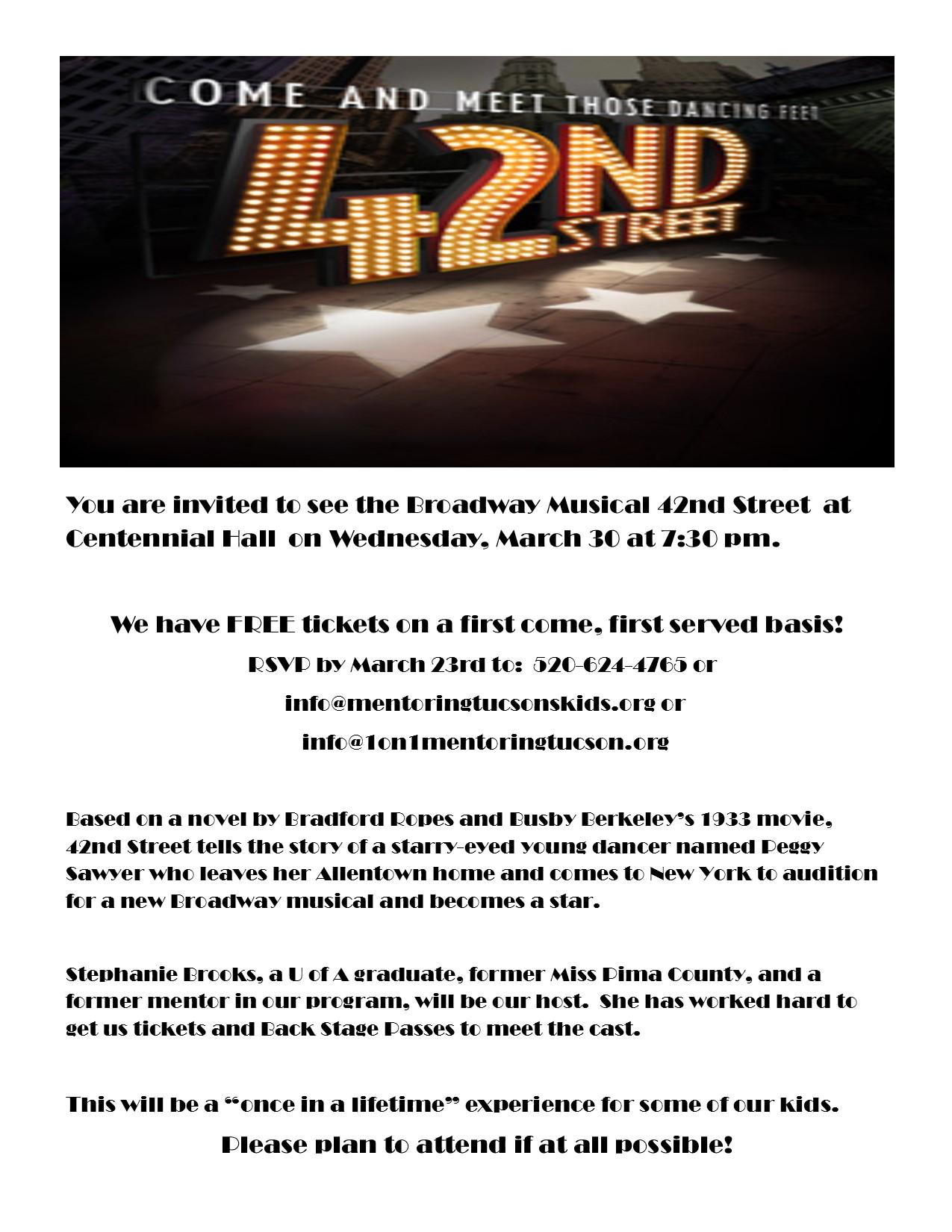 42nd Street flyer