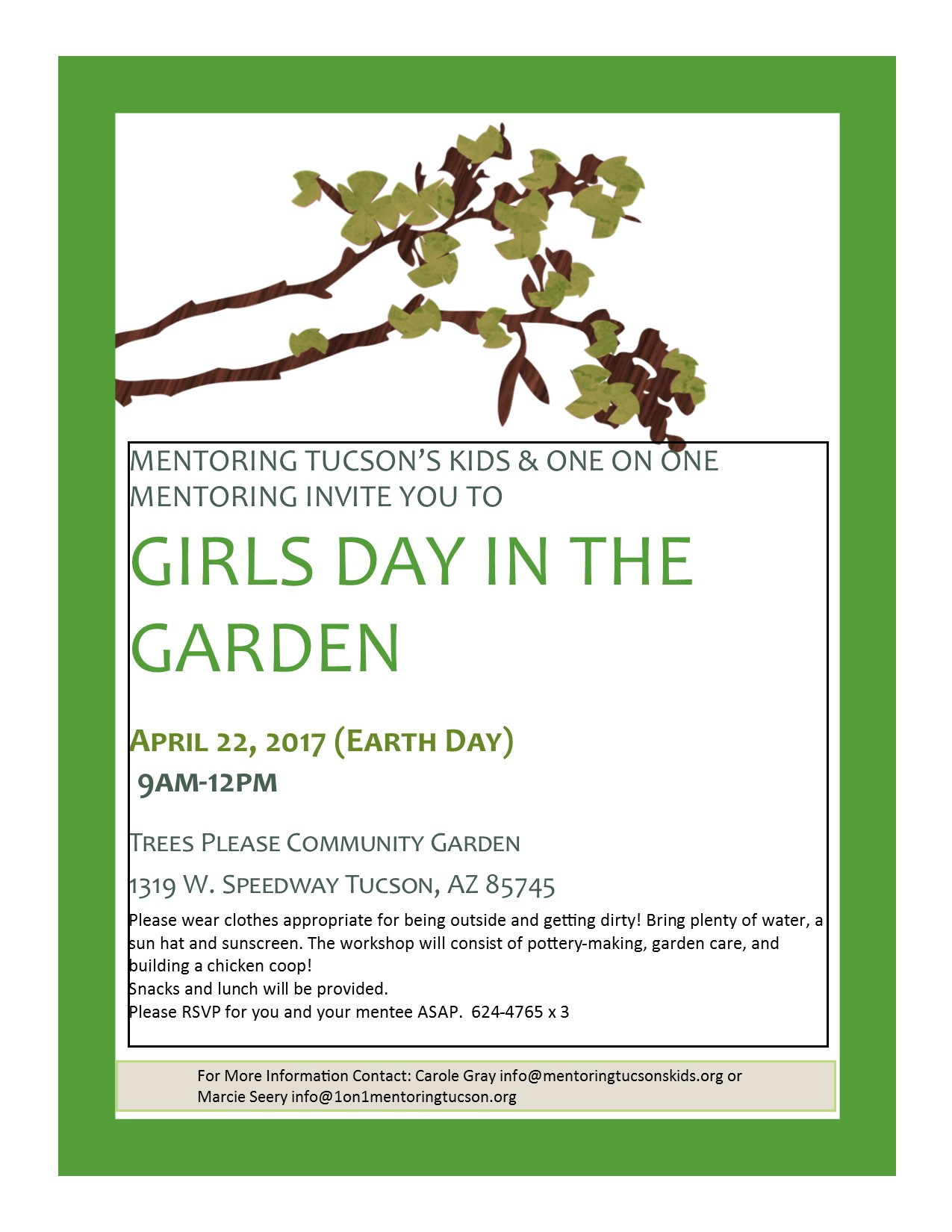 Girls day out garden flyer