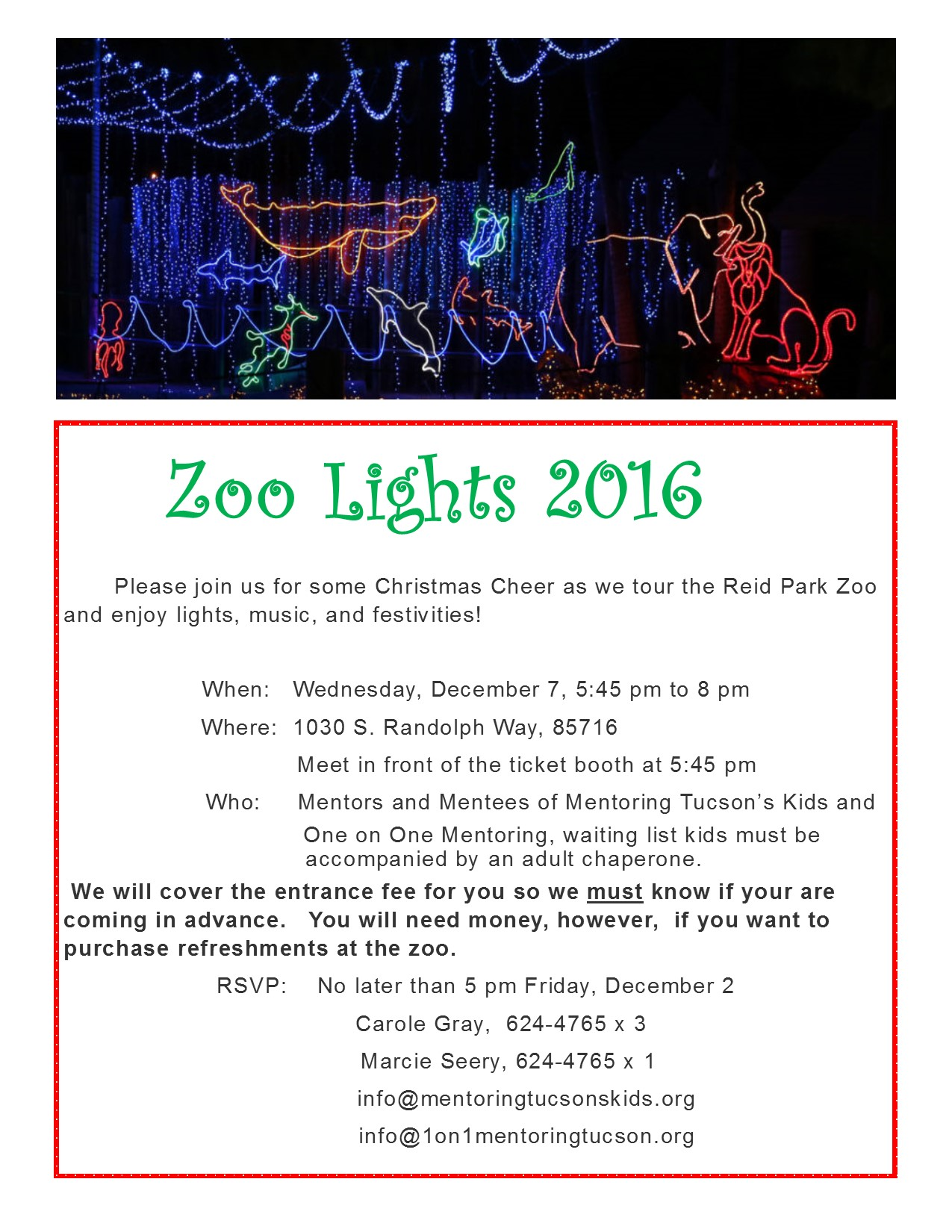 Zoo Lights 2016