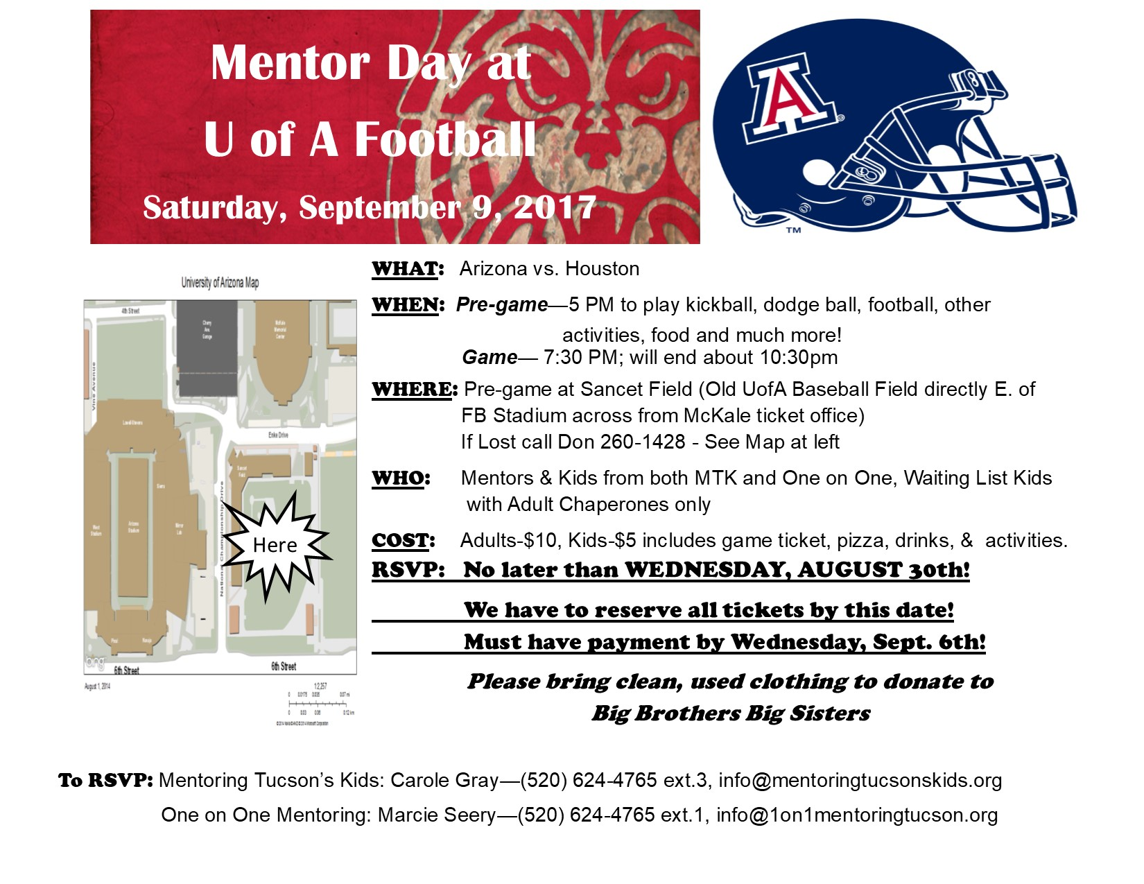 mentor day football 2017