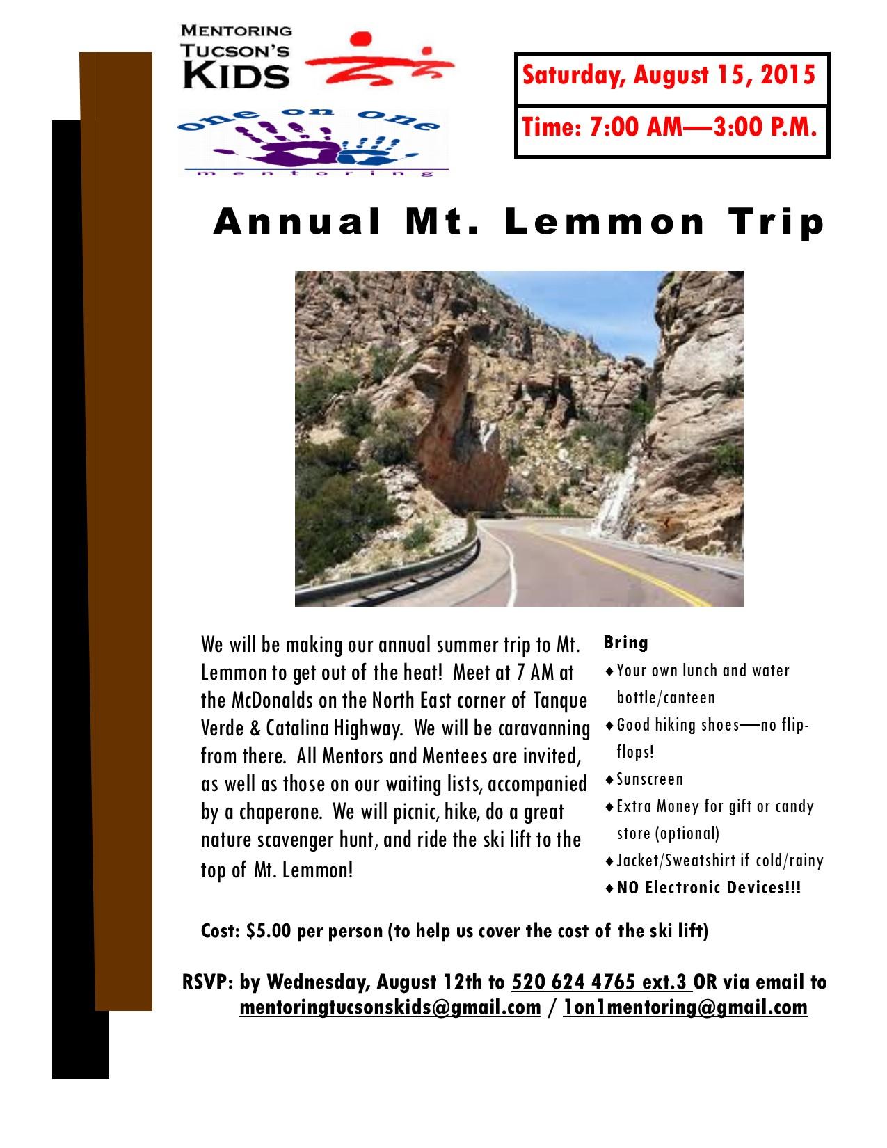 Mt Lemmon 8-15-2015