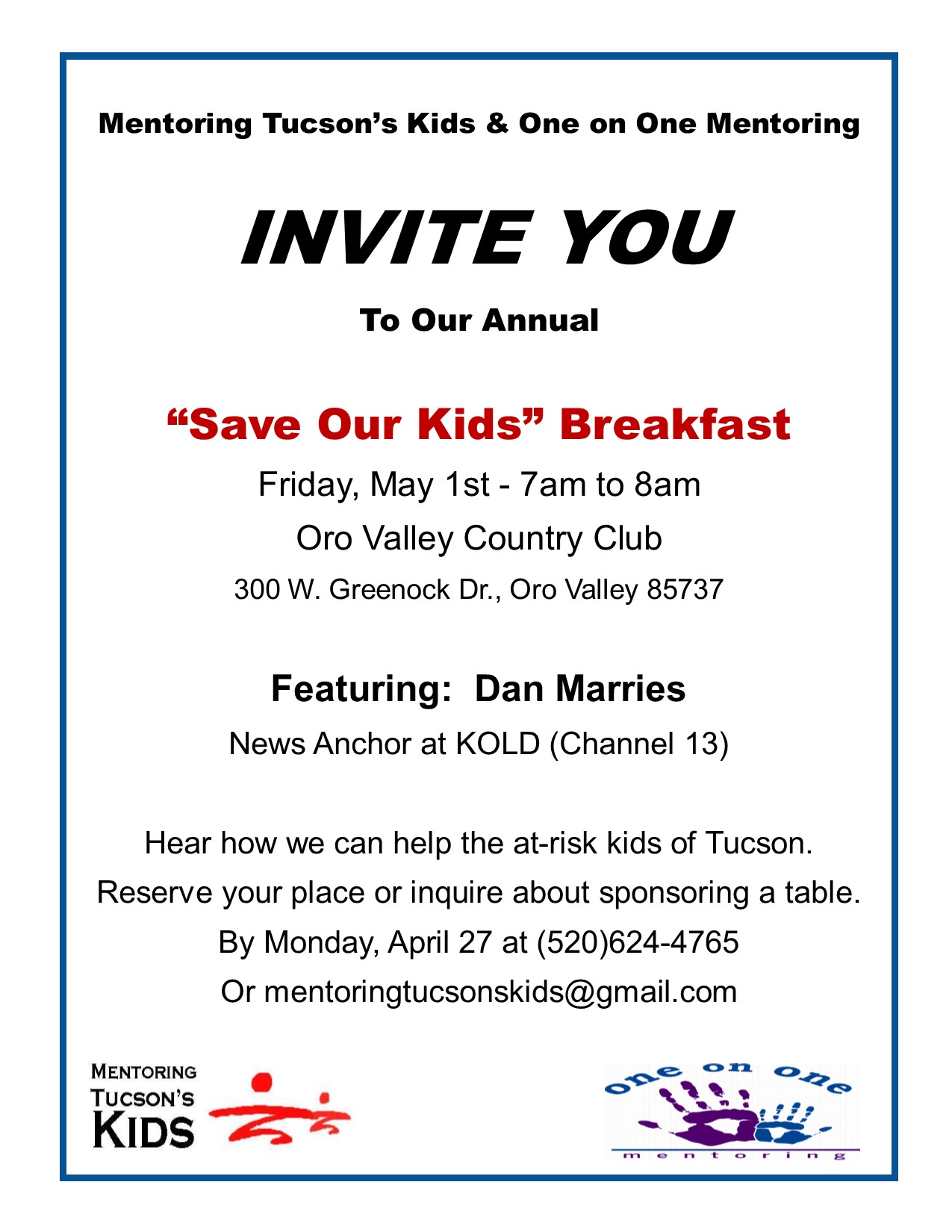 Save Our Kids Breakfast