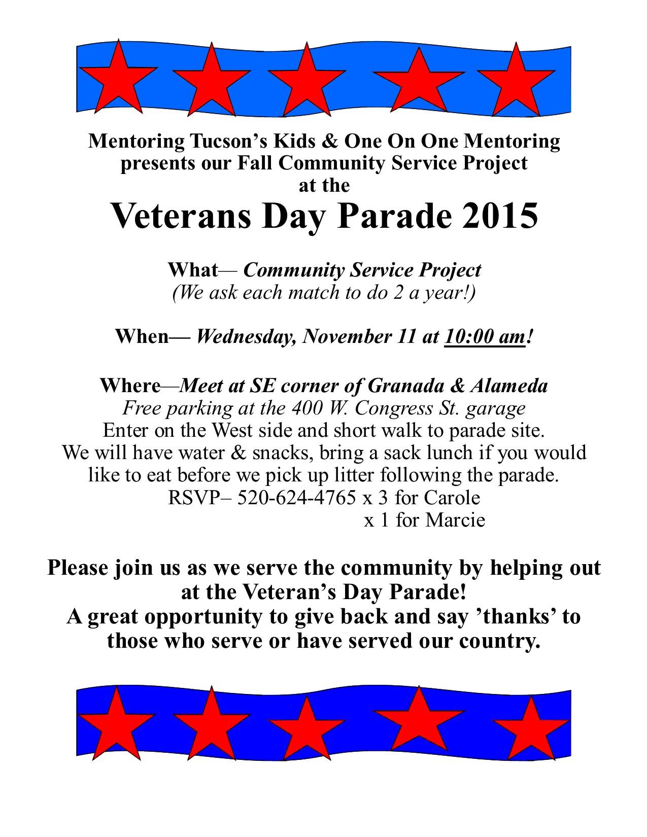 Veterans Day Parade Flyer 2015
